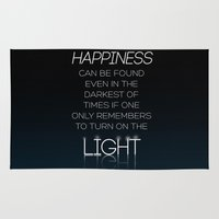 dumbledore Area & Throw Rugs featuring Harry Potter Albus Dumbledore Quote by raeuberstochter