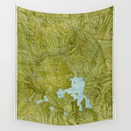 Map of Yellowstone 1898 Wall Tapestry