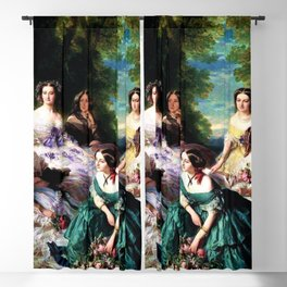 """Franz Xaver Winterhalter's masterpiece """"The Empress Eugenie surrounded by her Ladies in waiting"""" Blackout Curtain"""