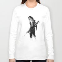 winter soldier Long Sleeve T-shirts featuring Winter Soldier by Mari Vasilescu