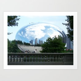 Chicago: Cloud Gate Art Print