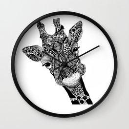Curious Giraffe Wall Clock