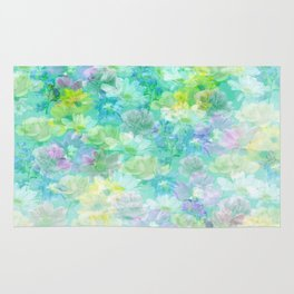 Enchanted Spring Floral Abstract Rug