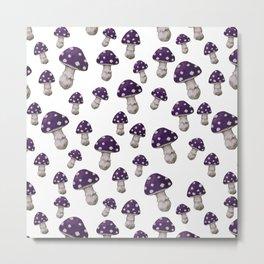 Mushroom in Purple Metal Print