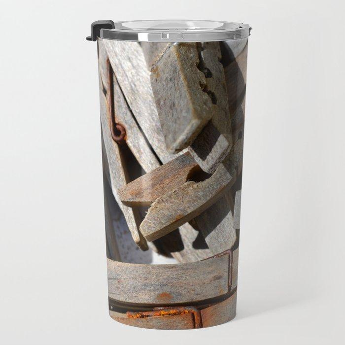 Wooden Pegs Travel Mug