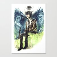 nico di angelo Canvas Prints featuring Nico Di Angelo - Son Of Hades by AkiMao