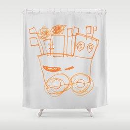 Ben's Monster Trucks no.2 Shower Curtain
