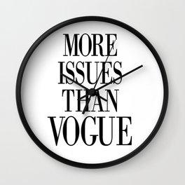 fashion quote, home decor Wall Clock