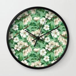 sweet apple floral Wall Clock