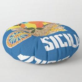 Sicilia - Sicily Italy Vintage Travel Floor Pillow