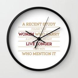 Folly of Man Death Wish Wall Clock