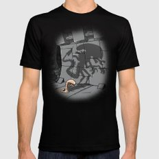 Lunch! Mens Fitted Tee MEDIUM Black