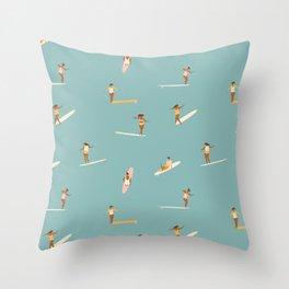 Surf girls Throw Pillow
