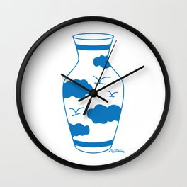 Blue & White Vase Wall Clock