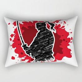 Samurai red Rectangular Pillow