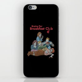 Brains for Breakfast Club (white) iPhone Skin