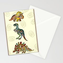 Tribal Dinosaur Stationery Cards