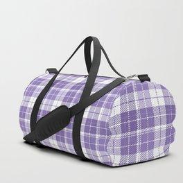 Ultra Violet Tartan Pattern Duffle Bag