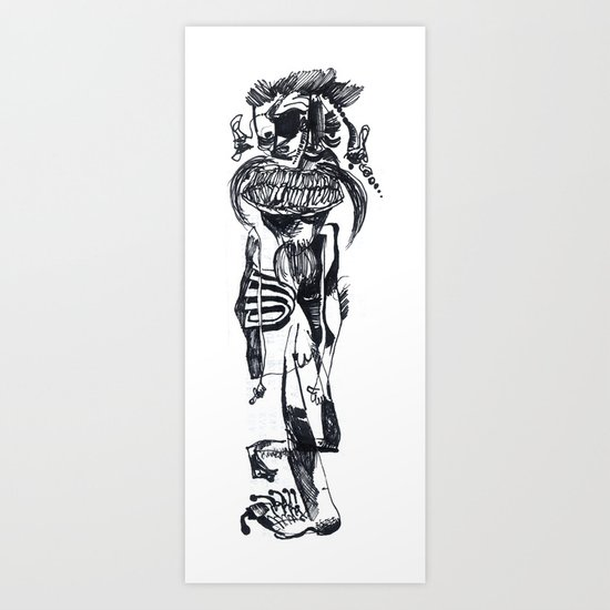 BIGOTES Art Print