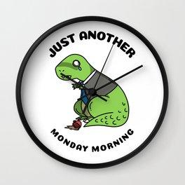 Monday Morning Wall Clock
