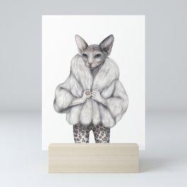 Little Miss Purrfect Mini Art Print