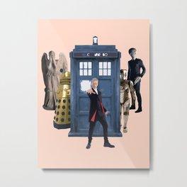 Doctor Who & Enemies Metal Print
