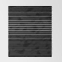 Black White Pinstripe Minimalist Throw Blanket
