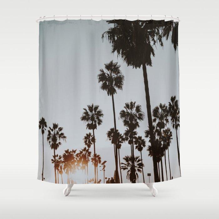 Palm Trees Vi Venice Beach California Shower Curtain By Mauikauai