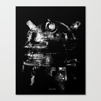 dalek Canvas Prints featuring Dalek by zerobriant