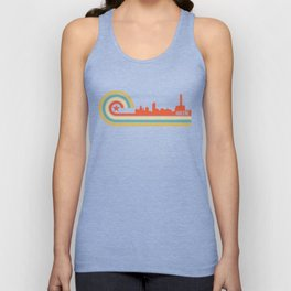 Retro Abilene Texas Skyline Unisex Tank Top