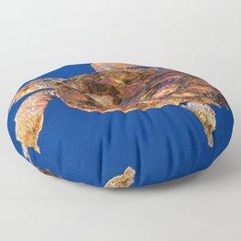 Loggerhead sea turtle Floor Pillow