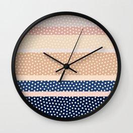Dots and Stripes 2 Wall Clock