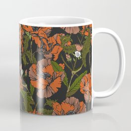 Autumnal flowering of poppies Coffee Mug