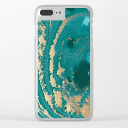 Fluid Gold Clear iPhone Case