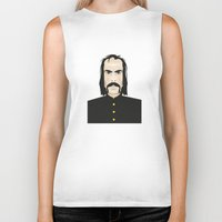 nick cave Biker Tanks featuring Nick cave by Matteo Lotti
