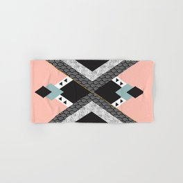Abstract composition of textures with geometric shapes Hand & Bath Towel