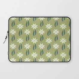 Tulip windmill olive green background Laptop Sleeve