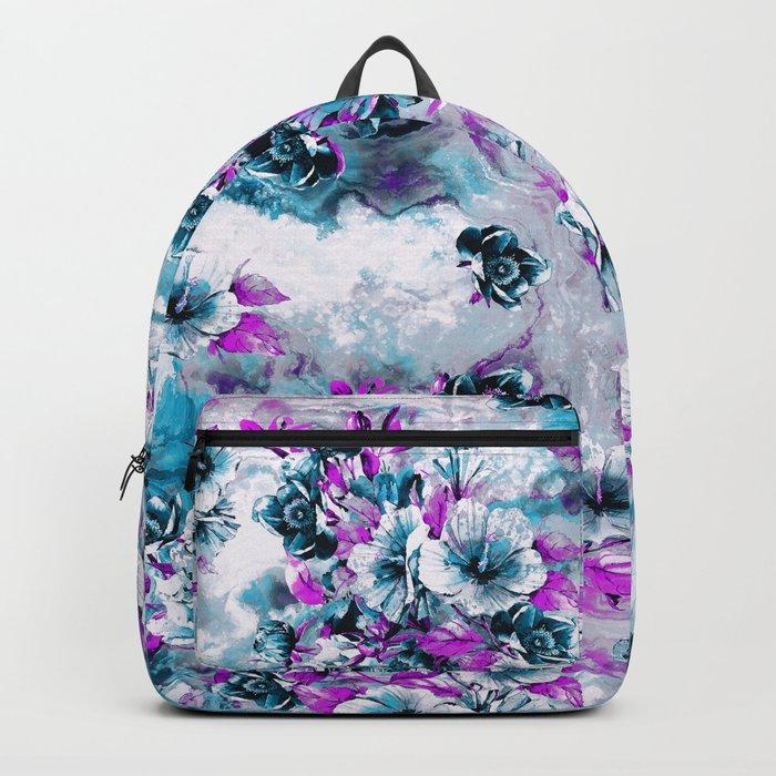 Frozen Flowers IV Backpack