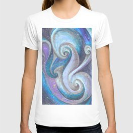 Swirl (blue and purple) T-shirt
