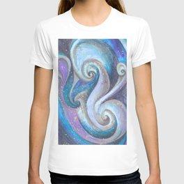 Swirl (blue and purple) T-shirt