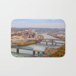 Monongahela River - Pittsburgh, Pennsylvania Bath Mat