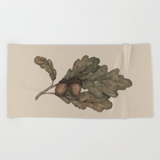 Acorns Beach Towel