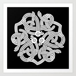 Jelling Style Ornament III Art Print