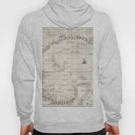 Vintage Map Print - 1646 map of the Gulf of Mexico by Robert Dudley Hoody