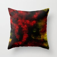 planes Throw Pillows featuring Falling Planes by NicholasB