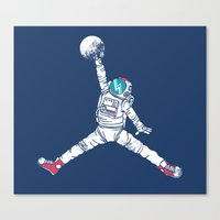 wolf Canvas Prints featuring Space dunk by Steven Toang