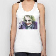 Joker Why So Serious Watercolor Unisex Tank Top