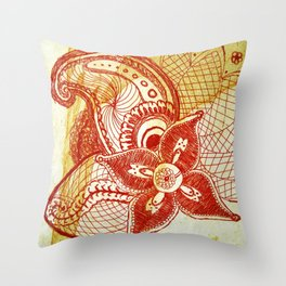 Rare Bloom Throw Pillow