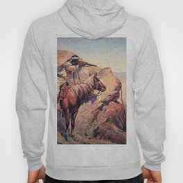 "Frederic Remington Western Art ""Apache Ambush"" Hoody"
