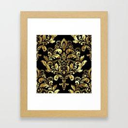 Bold Damask Gold Print Framed Art Print